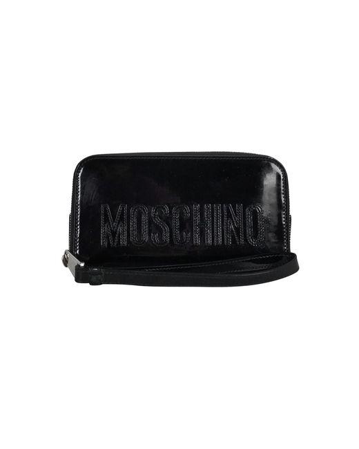 Moschino - Black Patent Leather Wristlet - Lyst