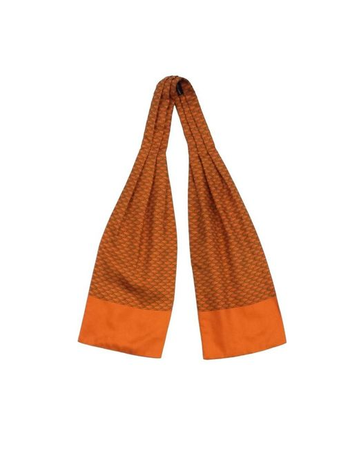 Hermès - Vintage Orange Patterned Silk Scarf - Lyst
