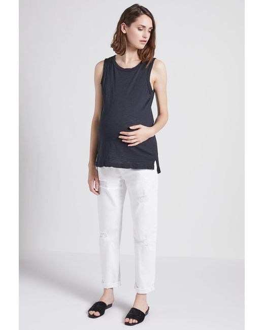 Current/Elliott | Blue The X Hatch New Boyfriend Maternity Jean | Lyst