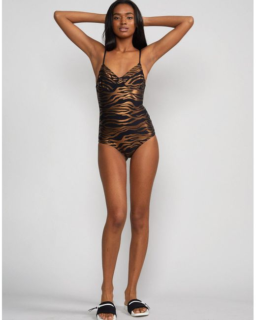 89aeff79ce ... Cynthia Rowley - Multicolor Zebra Sandi Swimsuit - Extended Sizes  Available - Lyst ...