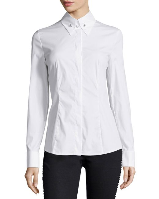 Womens White French Cuff Blouse 114