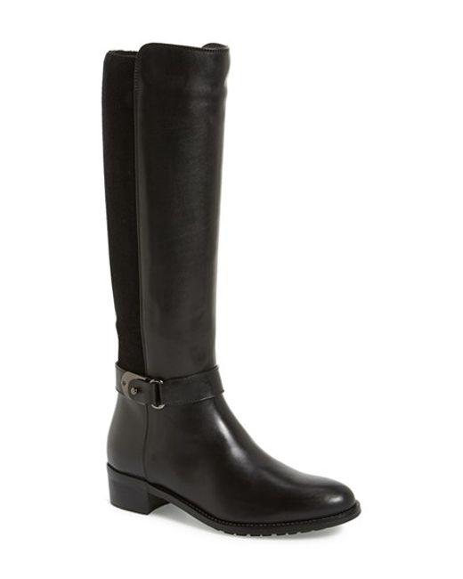 Aquatalia | Black 'Olita' Weatherproof Riding Boot | Lyst
