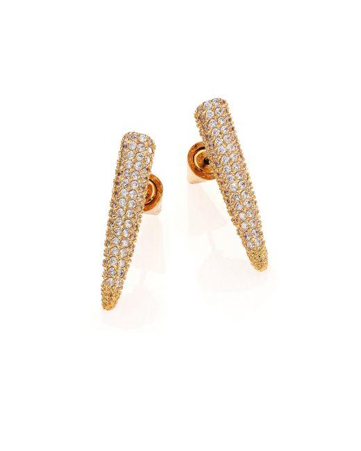 Eddie Borgo | Metallic Pave Crystal Spike Drop Earrings/goldtone | Lyst