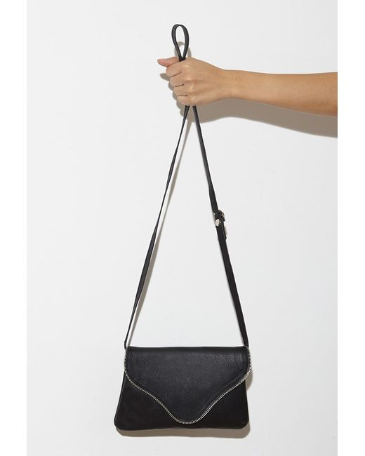 Forever 21 | Black Jj Winters Camilla Textured Leather Crossbody | Lyst