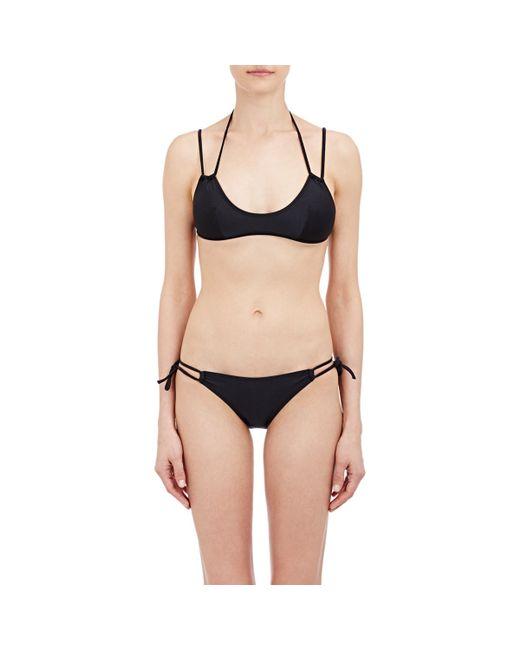 Yasmine Eslami | Black Fixed Bikini Top | Lyst