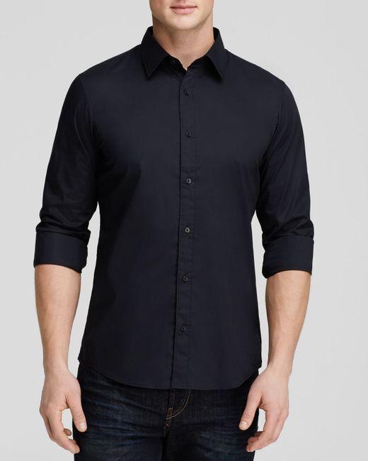 Michael Kors Stretch Cotton Button Down Shirt Slim Fit