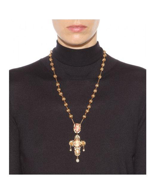 Dolce & Gabbana | Metallic Embellished Necklace | Lyst