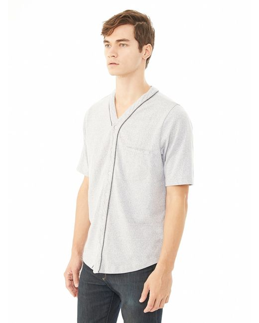 Alternative Apparel | Gray Eco-mock Twist Baseball Jersey for Men | Lyst