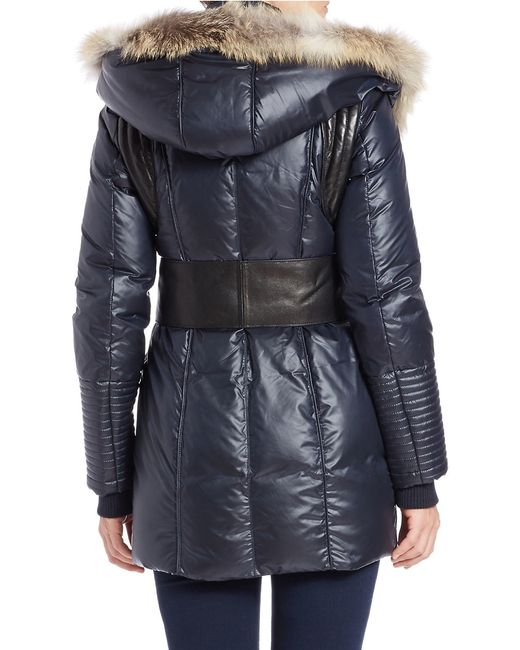 Rudsak | Blue Sophie Coyote Fur Hooded Coat | Lyst