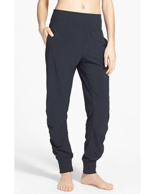 Zella 'desire' Shirred Pants In Black