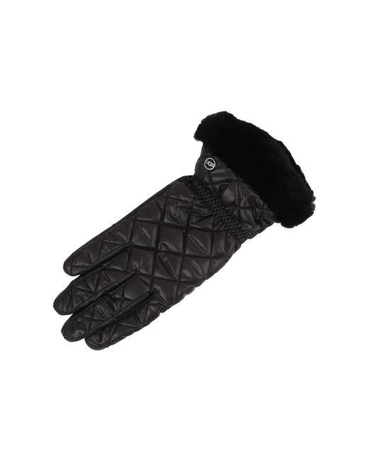 Ugg | Black Slim Fit Quilted Fabric Smart Glove | Lyst