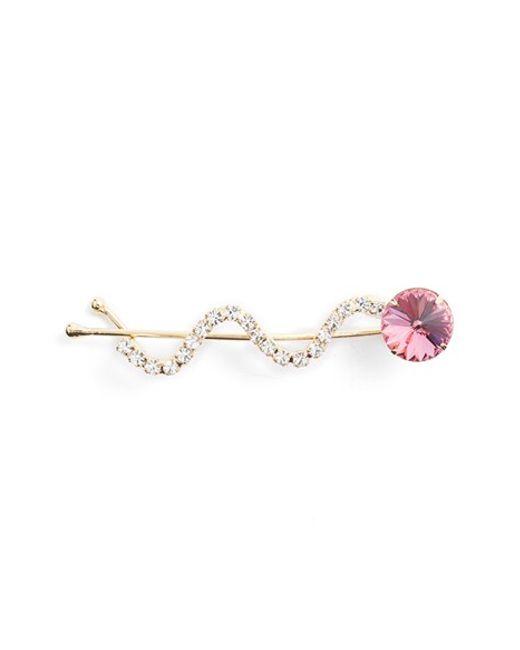 Ficcare   Pink Swarovski Crystal Hair Pin   Lyst