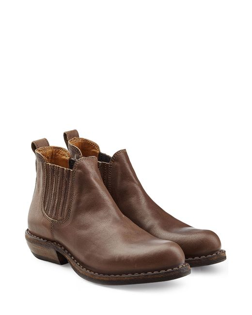 fiorentini baker carnaby caris leather ankle boots brown in brown lyst. Black Bedroom Furniture Sets. Home Design Ideas