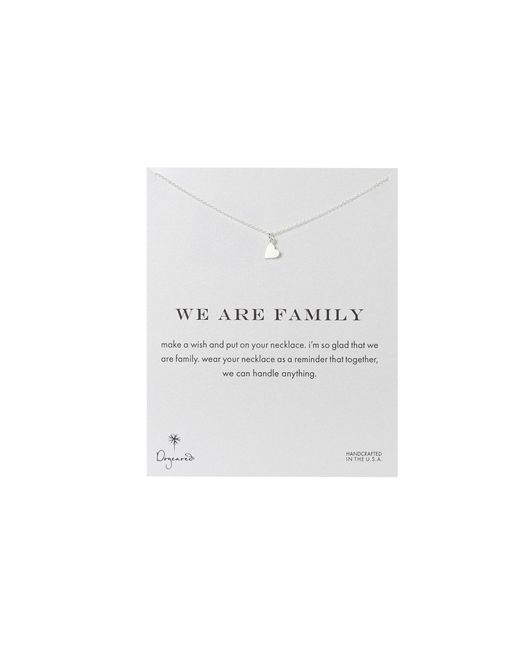 Dogeared | Metallic We Are Family Heart Reminder | Lyst