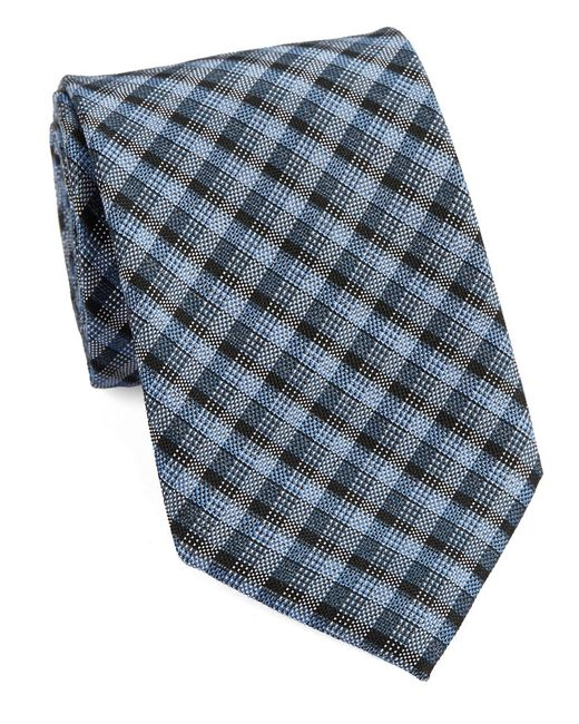 William Rast | Blue Textured Plaid Tie for Men | Lyst