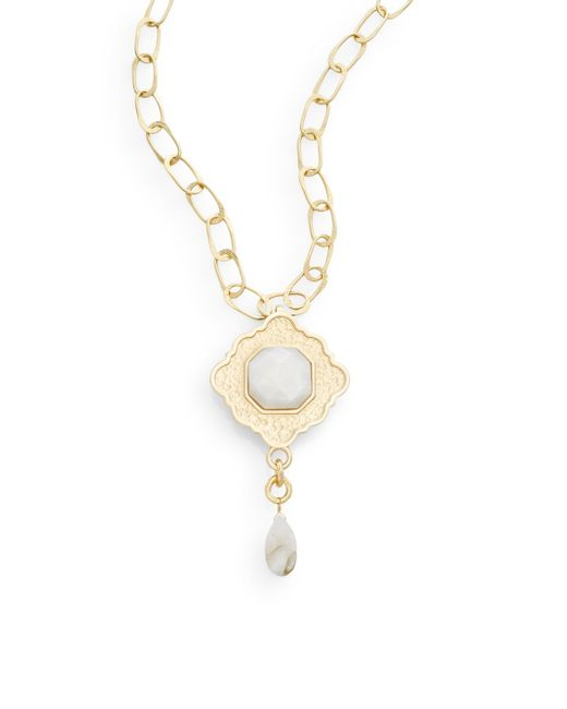 Stephanie Kantis | Metallic Ventana Mother-of-pearl & 24k Yellow Gold Pendant | Lyst