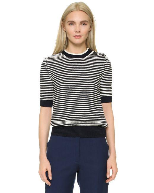 Nina ricci 3 4 sleeve sweater in black black cream save 40 lyst