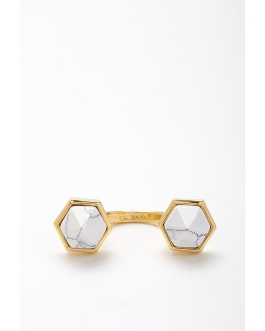 Forever 21   Metallic Cc Skye Duality Ring   Lyst