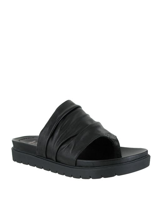 MIA | Black Oasis Leather Sandals | Lyst