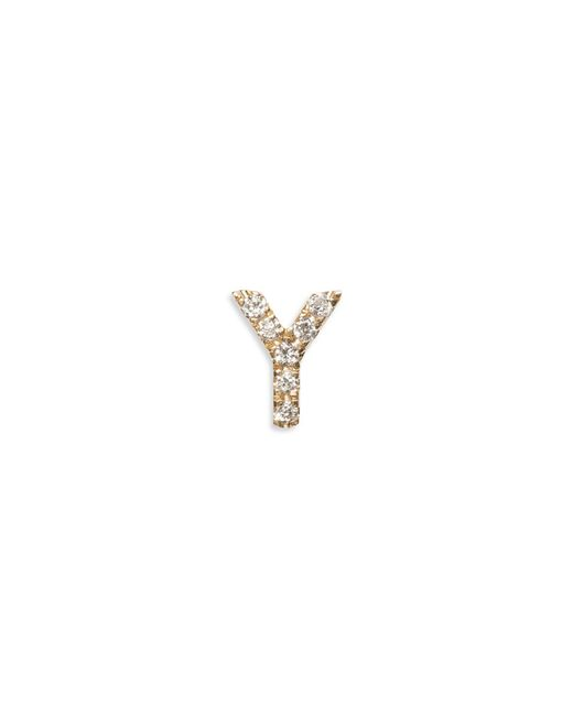 Loquet London | Metallic Diamond 18k Yellow Gold Letter Charm - Y | Lyst