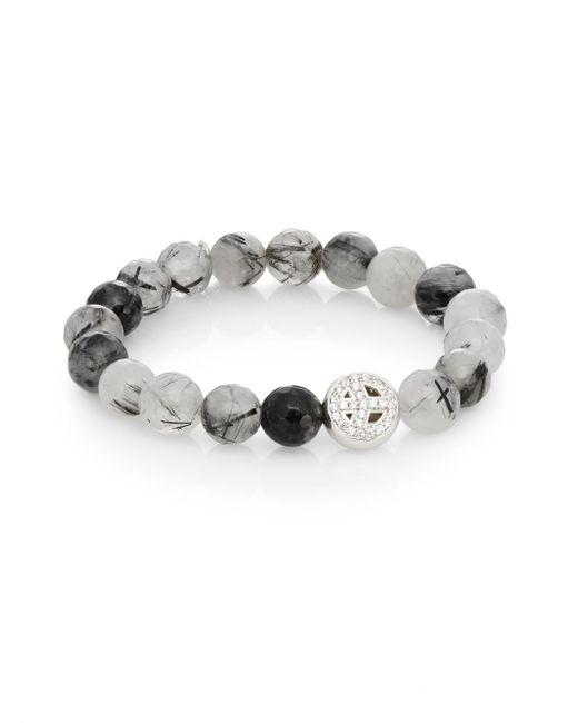 Anzie | Metallic Boheme Quartz & Sterling Silver Bracelet | Lyst