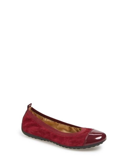 Geox | Red 'piuma' Ballet Flat | Lyst