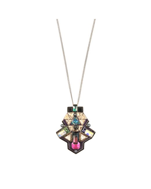 Swarovski | Multicolor Buzz Necklace | Lyst