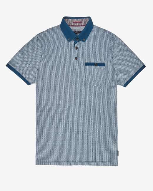 Ted Baker | Blue Printed Polo Shirt for Men | Lyst