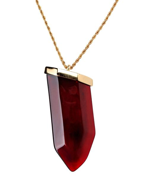 Kenneth Jay Lane | Red Necklace | Lyst