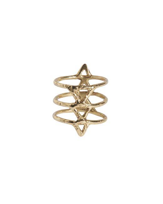 Rebecca Taylor   Metallic Spine Brass Ring   Lyst