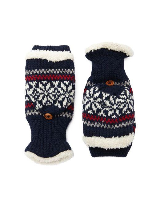 Forever 21 | Blue Fair Isle Convertible Gloves | Lyst