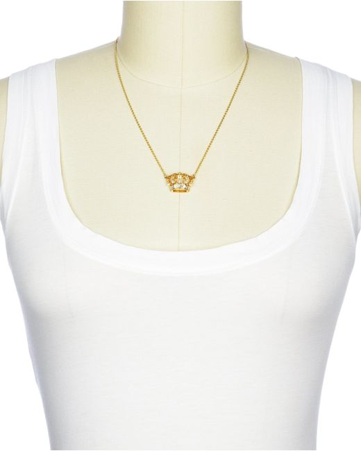 Juicy Couture | Metallic Royal Crown Wish Necklace | Lyst