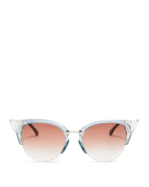1dd3c04ec401 Fendi Cat-eye Half-frame Sunglasses in Blue