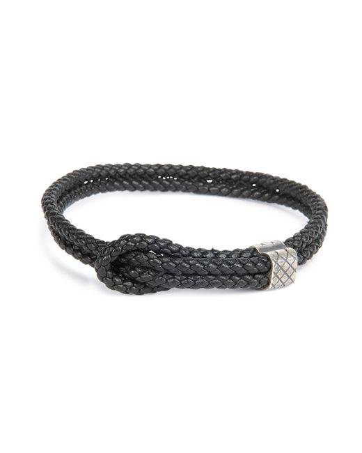 Bottega Veneta | Black Men's Woven Leather Knot Bracelet for Men | Lyst