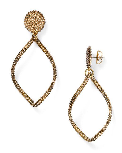 Roni Blanshay   Metallic Open Drop Earrings   Lyst