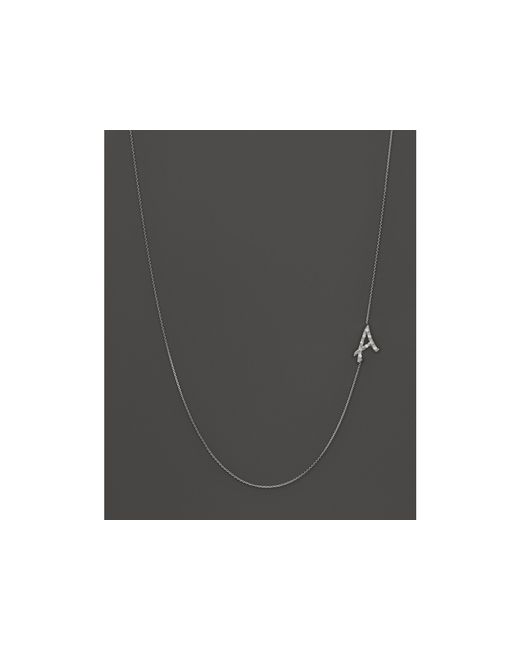 KC Designs | Metallic Diamond Side Initial A Necklace In 14k White Gold, .05 Ct. T.w. | Lyst