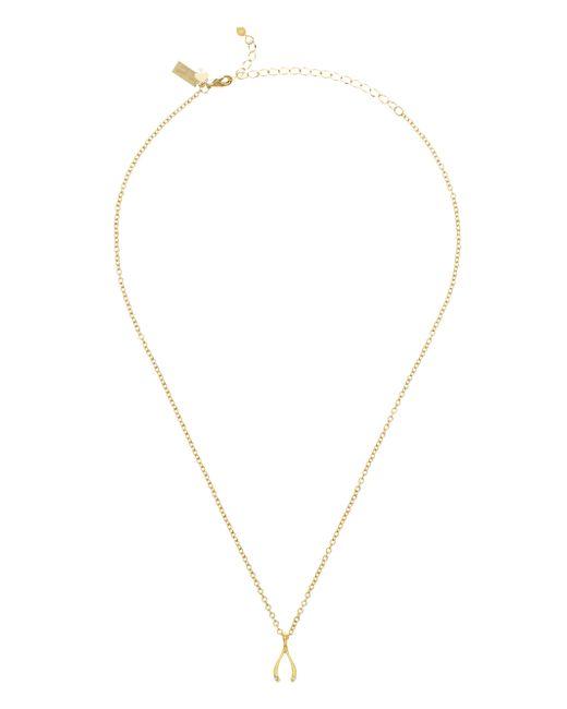 kate spade new york | Metallic Dainty Sparklers Wishbone Pendant | Lyst