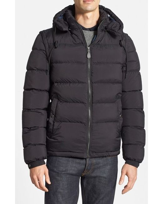 Burberry Brit | Black 'basford' 2-in-1 Trim Fit Waterproof Down Insulated Puffer Jacket With Removable Sleeves for Men | Lyst