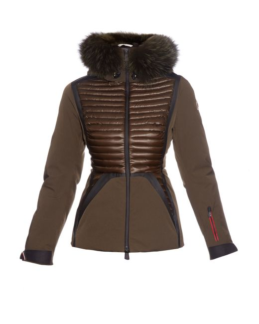 Moncler grenoble Kuna Fox Fur-trim Quilted-down Ski Jacket ...