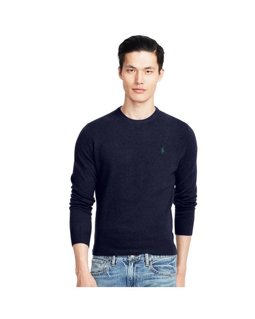 Polo Ralph Lauren | Blue Wool Crewneck Sweater for Men | Lyst