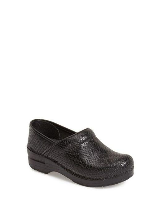 Dansko | Black 'professional' Woven Leather Clog | Lyst