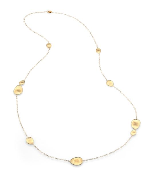 Marco Bicego | Metallic Lunaria 18k Yellow Gold Small Station Necklace | Lyst