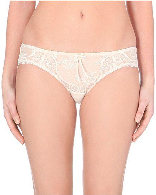 Heidi Klum Intimates | Natural Heidi Lace Bikini Briefs | Lyst