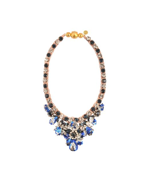 Shourouk | White Theresa Sequined Mini Necklace | Lyst