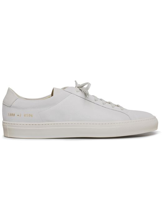 Common projects White Suede Achilles Premium Low Sneakers in White for Men | Lyst