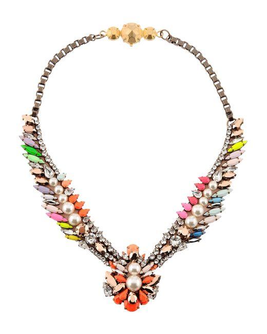 Shourouk   Orange Necklace   Lyst