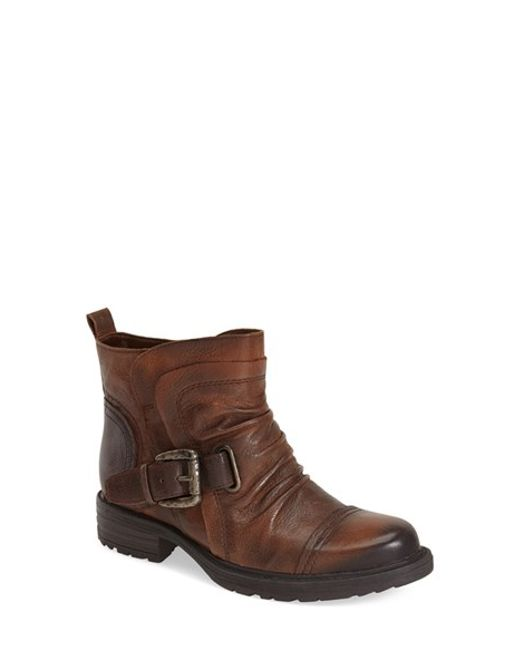 Earth | Brown Jericho Leather Ankle Boots | Lyst