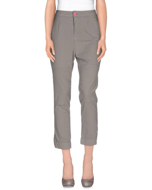 Scee By Twin-set | Gray Casual Pants | Lyst