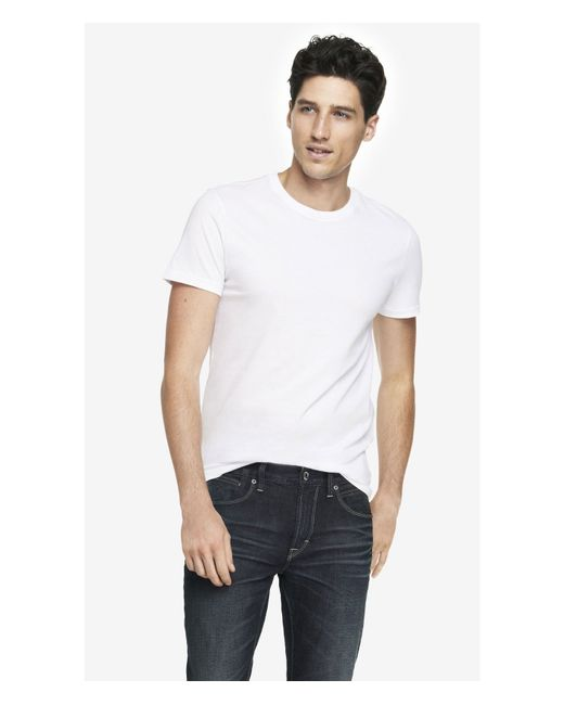 Express | White Cotton Crew Neck Tees 2-pack for Men | Lyst