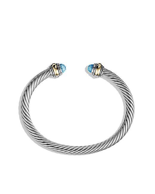 David Yurman   Metallic Cable Classics Bracelet With Lapis Lazuli And 14k Gold   Lyst